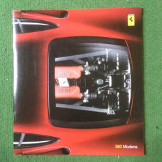 Presentation catalogue of the Ferrari 360 Modena