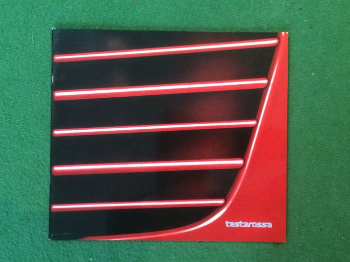 "Presentation catalogue of the Ferrari Testarossa ""monospecchio"""