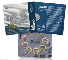 San Marino – 2012 mint – series of 8 current euros – lot of 8 mints