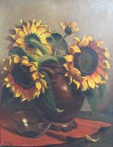 H. Endlich(20th century) - Sunflowers