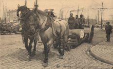 Types, Belgium, 50x - milk girls, fishermen, and other professions - 1900/1955