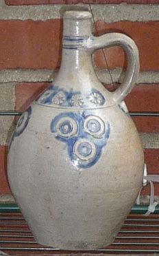 Antique Stoneware Flagon, Westerwald, Germany