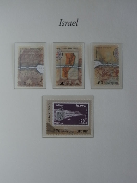 Israel 1972/1987 - Collection in Borek preprint album