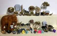 Collection of 65 elephants