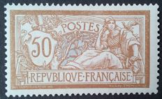 France 1900 – Merson, 50 c. Brown and grey – Yvert n° 120.