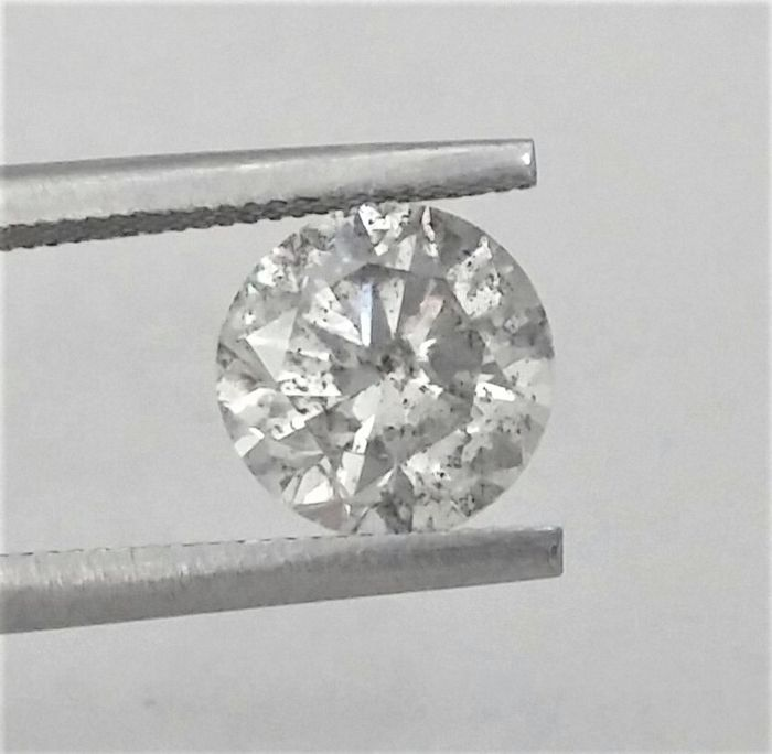 2.00 carat - G color - SI1 clarity - Round Brilliant Cut  - - Comes With AIG Certificate + Laser Inscription On Girdle- 3 x EX.