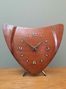 Producer unknown - Teak wood mid-century modern longcase clock