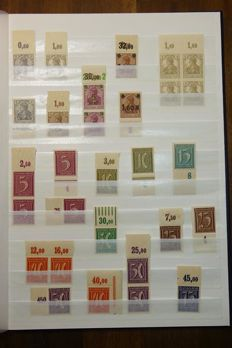 German Empire/Reich - collection with upper fringe, units (blocks of 4) and plate errors