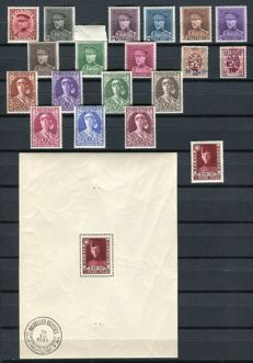 Belgium 1931 - complete year with block - OBP 315/332 + BL3