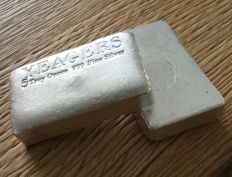 USA:  YPS Yeager's Poured Silver - 5 oz bare bones bullion bar
