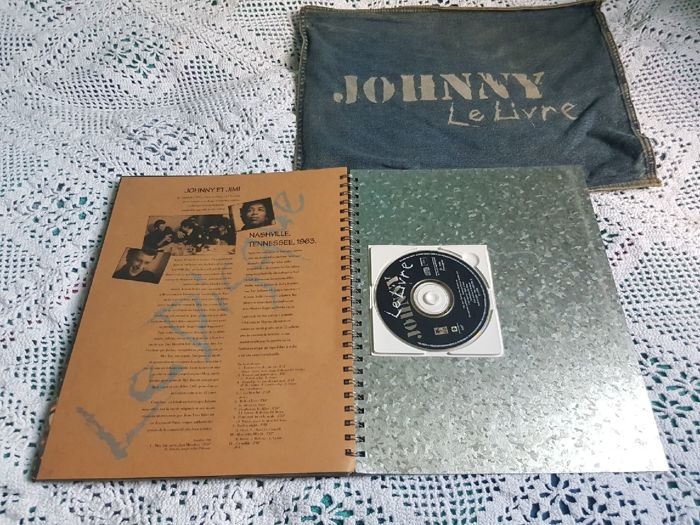 Johnny Hallyday Livre Metal Including Jeans Bag Cd And