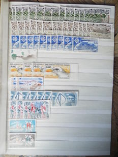 TAAF 1980/2010 – Multiple copy lots and TAAF envelope.