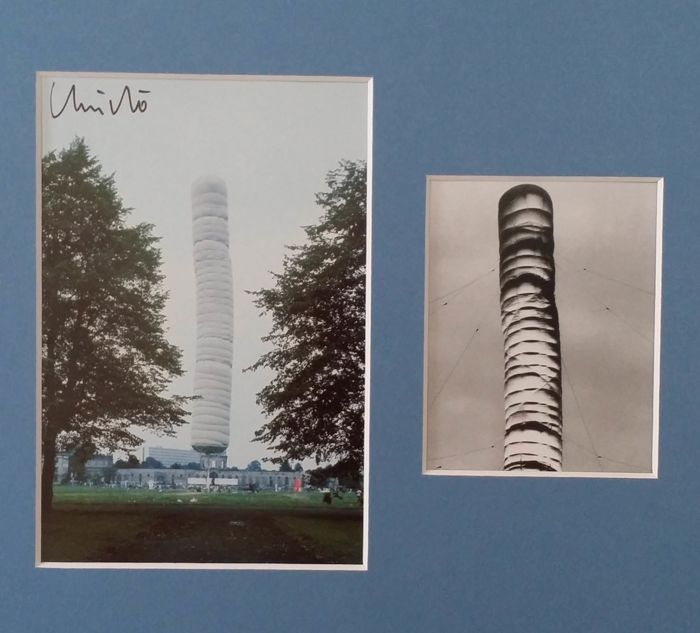 Christo - Cubicmeter Package, documenta IV, Kassel, collage postalcards