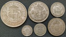 United Kingdom - 3 Pence to Crown 1937 George VI (6 pieces) - silver