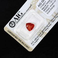 Vivid Orange Andesine - 1.82 ct