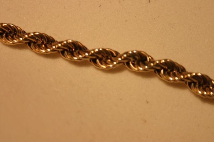 9 Carat [375] Rope Necklace - 50cm or 20 Inches Long - Total Weight 15g