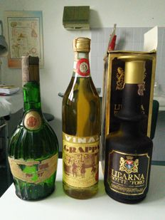 Grappe Italiane 3 Bottles from closed distilleries - Vinal, Chiesa & Libarna