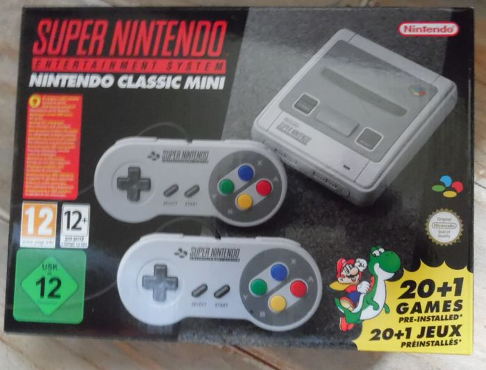 Nintendo SNES Classic Mini + 2 controls whit built-in 21 + 1 games Final Fantasy III+Kirby's  sealed new