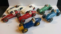 Dinky Toys - Scale 1/38-1/43 - Lot of 7 race cars: Nos. 23h, 23j, 23k, 133, 231, 232 and 237