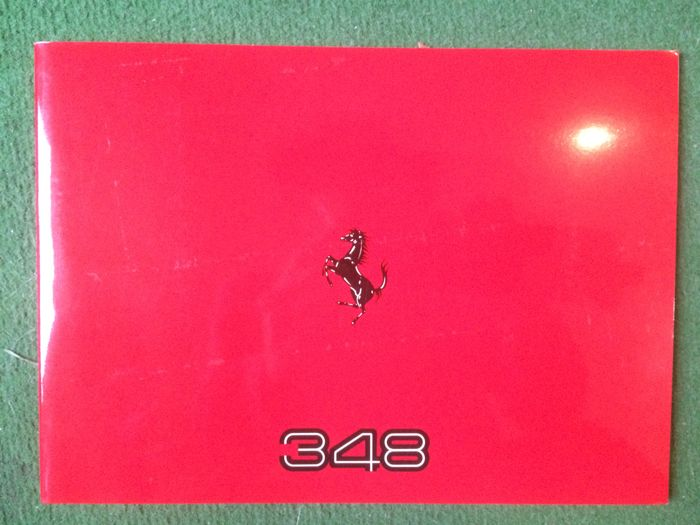 Presentation catalogue of the Ferrari 348