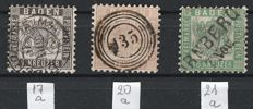 Old Germany Baden - from 1862 Mi no. 17 - 20 - 21.