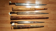 18th & 19th Century Afghan Khyber Knives Lot