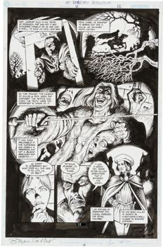 Original Art Page by Bryan Talbot and Steve Leialoha - Sandman Presents: Dead Boy Detectives #2 Page 12 (DC, 2001)