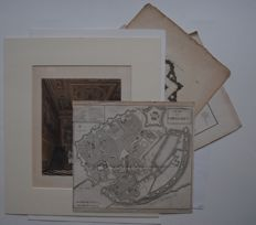 World; 21 topographical prints and maps - 18th/19th century
