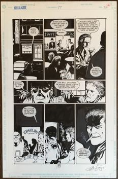 Original Art Page by Peter Snejbjerg - Hellblazer #77 - Page 21 (DC Vertigo, May 1994)