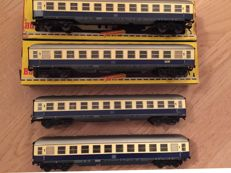 Fleischmann H0 -1500R - lot of 4 carriages DB 1st class TEE