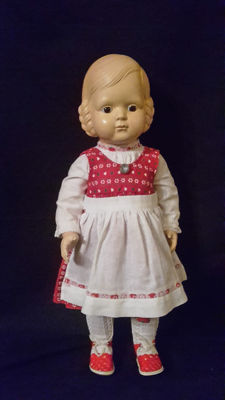 "Celluloid doll - Cellba - Affenschaukel ""Helga""  Germany"