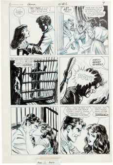 Original comic art by Ken Landau - 3 consecutive pages from Forbidden Worlds #145 (ACG, 1967)