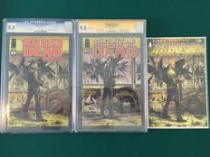 x3 Walking Dead Comics - Image Comics - #1, #75 and #150 - CGC Graded