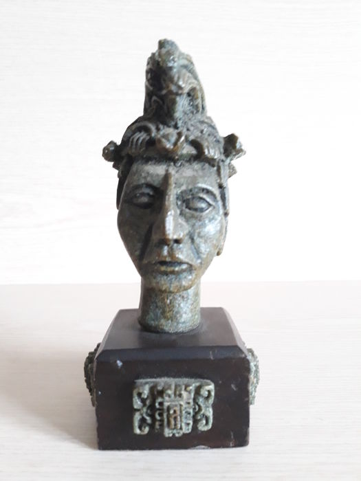 Sculpted stone Bust