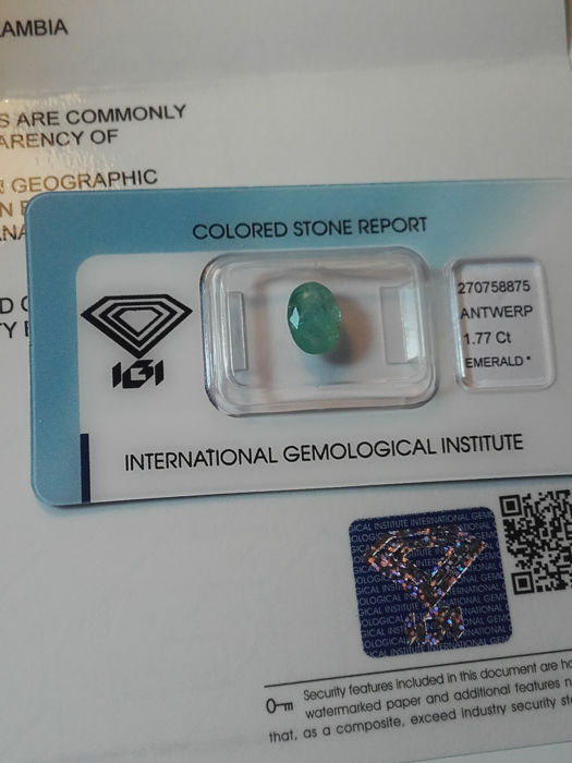 1.77ct Green Emerald - No Resereve price