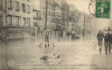 Floods PARIS / FRANCE 73 x - Mostly River Seine, Paris and surroundings - 1910