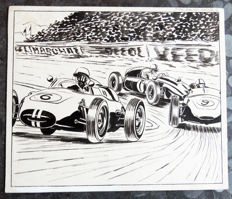 Boivent, Jean-Pierre - Original drawing - Published in Auto-Revue in 1960