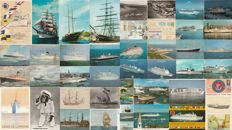 NAVY - Lot of 47 postcards - ships from all over the world / steamships and sailing ships