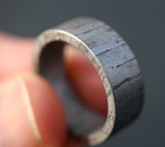 Real Seymchan Meteorite Ring - 19 mm