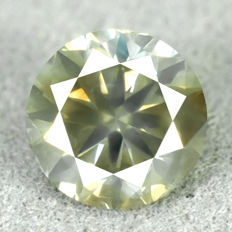 Diamond - 0.85 ct, NO RESERVE PRICE - Natural Fancy Greenish Yellow