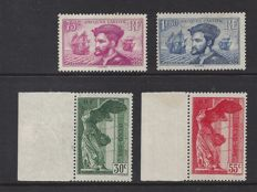 France 1934/1937 - 2 different sets - Yvert n° 296/297 and 354/355