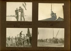 Photo album with photos of mobilisation, war, military, 1914 Rotterdam, Breda, Gennep, Tilburg, Amsterdam, aviation, car, etc.