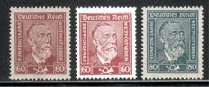 German Reich 1924-32, MNH collection with various top sets, Michel no. 351-478