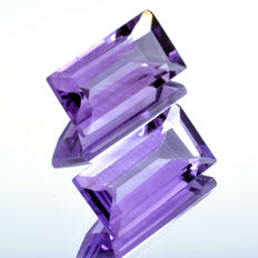 2 amethyst - 7.13 ct - No Reserve Price