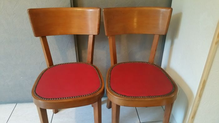 Two bistro chairs signed Bauman, mid 20th century