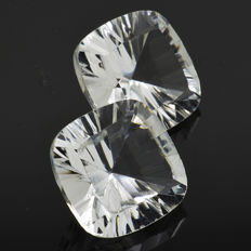 Two quartzes - 16.57 ct - No Reserve Price