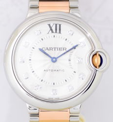 Cartier - Ballon Bleu 18K Gold/Stahl Diamond Dial - 3284 / W3BB0018 - Dames - 2011-heden