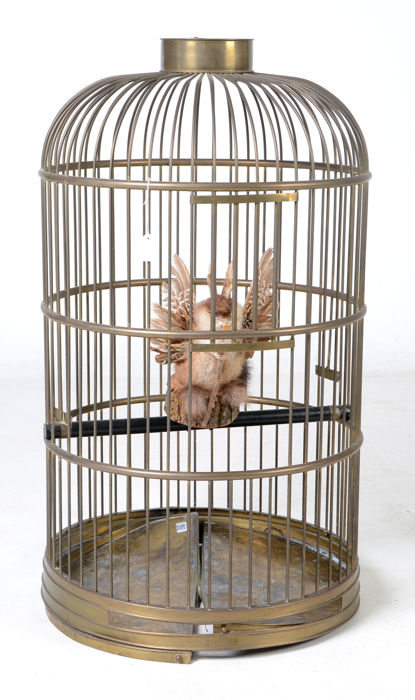 Large copper birdcage - height 100 cm