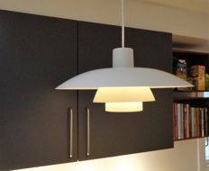Poul Henningsen for Louis Poulsen - White vintage pendant lamp, PH 4/3 - older model