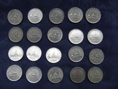 """Italy, Republic – 500 Lire """"Caravelle"""" 1958/1959/1960/1961 (20 coins) – Silver"""